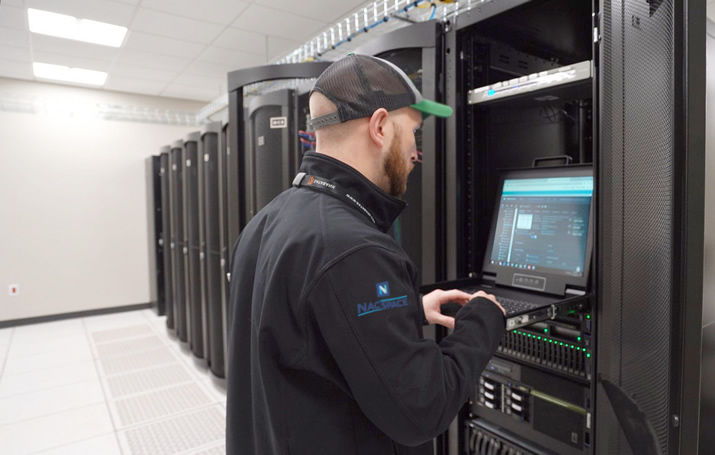 NacSpace server room for colocation, dedicated server hosting, and data center services in Nacogdoches TX