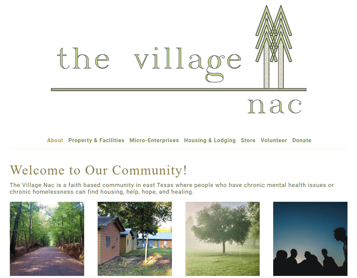 Homepage of TheVillageNac.com by Nacspace